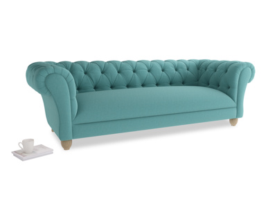 Large Young Bean Sofa in Peacock brushed cotton