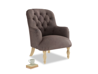 Flump Armchair in Dark Chocolate beaten leather