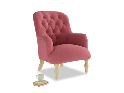 Flump Armchair in Raspberry brushed cotton