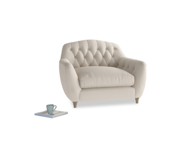 Love Seat Butterbump Love Seat in Buff brushed cotton