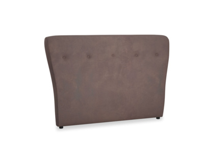 Double Smoke Headboard in Dark Chocolate beaten leather