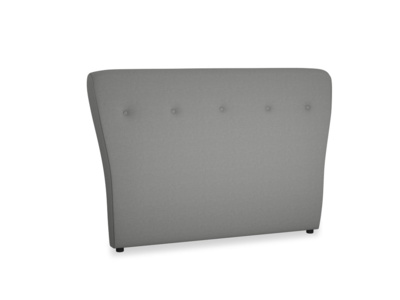 Double Smoke Headboard in French Grey brushed cotton