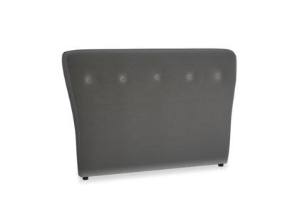 Double Smoke Headboard in Steel clever velvet