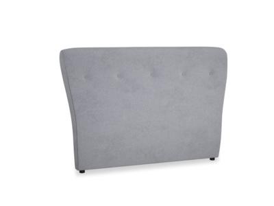 Double Smoke Headboard in Dove grey wool