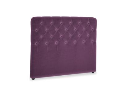 Double Billow Headboard in Grape clever velvet