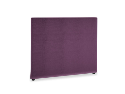 Double Piper Headboard in Grape clever velvet