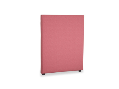 Single Piper Headboard in Raspberry brushed cotton