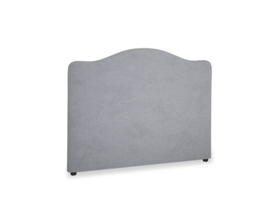 Double Luna Headboard in Dove grey wool