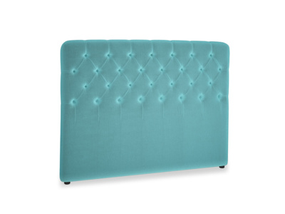 Kingsize Billow Headboard in Belize clever velvet