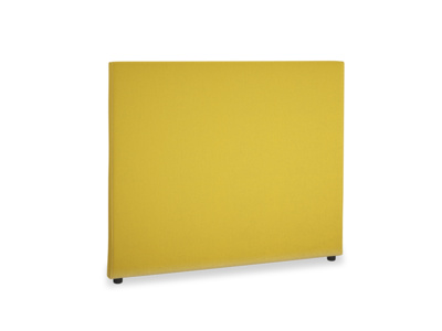 Double Piper Headboard in Bumblebee clever velvet