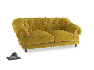 Medium Bagsie Sofa in Bumblebee clever velvet