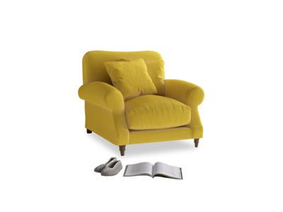 Crumpet Armchair in Bumblebee clever velvet