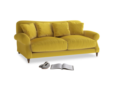 Medium Crumpet Sofa in Bumblebee clever velvet