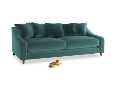 Large Oscar Sofa in Real Teal clever velvet