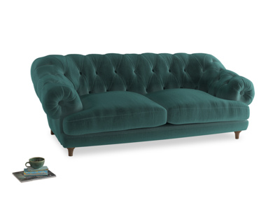 Large Bagsie Sofa in Real Teal clever velvet