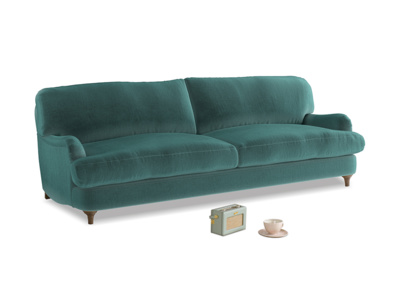 Large Jonesy Sofa in Real Teal clever velvet