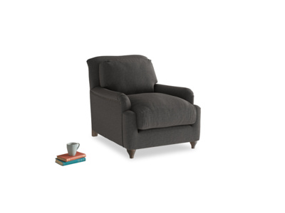 Pavlova Armchair in Old Charcoal brushed cotton