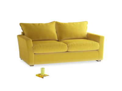Medium Pavilion Sofa Bed in Bumblebee clever velvet