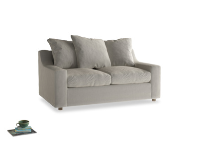 Small Cloud Sofa in Smoky Grey clever velvet