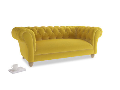 Medium Young Bean Sofa in Bumblebee clever velvet
