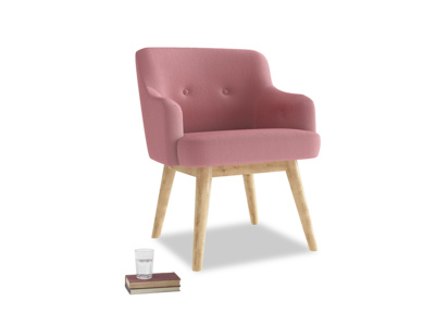 Smudge Armchair in Dusty Rose clever velvet