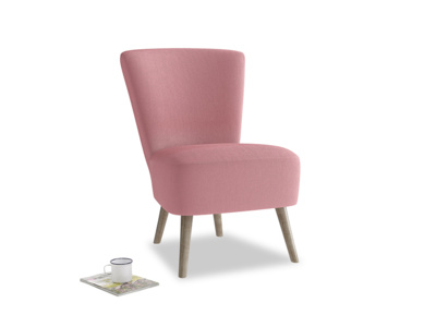 Bellini Armchair in Dusty Rose clever velvet