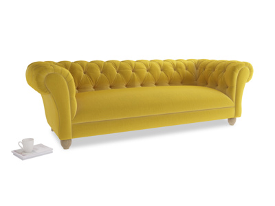 Large Young Bean Sofa in Bumblebee clever velvet