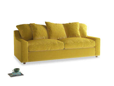 Large Cloud Sofa in Bumblebee clever velvet