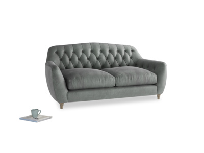 Medium Butterbump Sofa in Faded Charcoal beaten leather