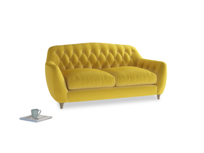 Medium Butterbump Sofa in Bumblebee clever velvet
