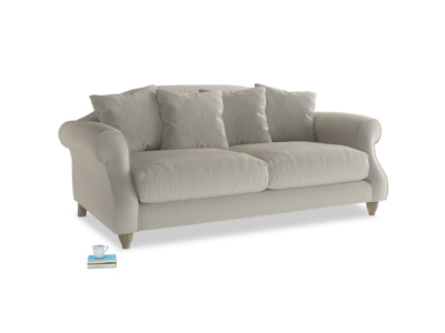Medium Sloucher Sofa in Smoky Grey clever velvet