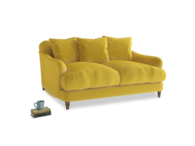 Small Achilles Sofa in Bumblebee clever velvet