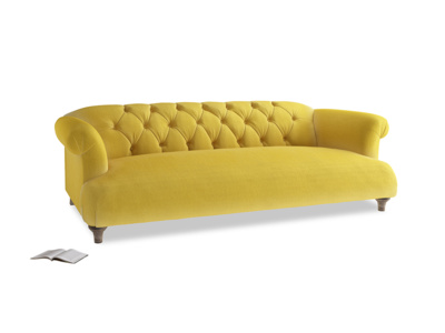 Large Dixie Sofa in Bumblebee clever velvet
