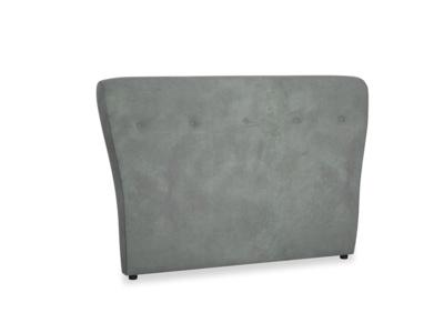 Double Smoke Headboard in Faded Charcoal beaten leather