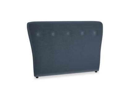 Double Smoke Headboard in Liquorice Blue clever velvet