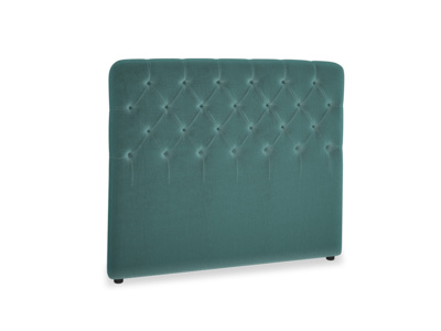 Double Billow Headboard in Real Teal clever velvet