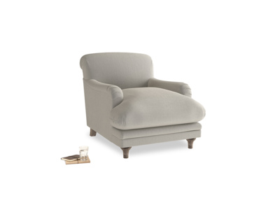 Pudding Armchair in Smoky Grey clever velvet