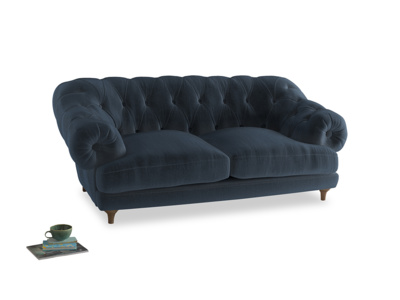 Medium Bagsie Sofa in Liquorice Blue clever velvet