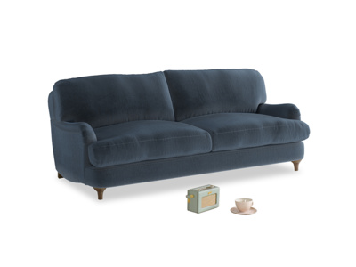 Medium Jonesy Sofa in Liquorice Blue clever velvet