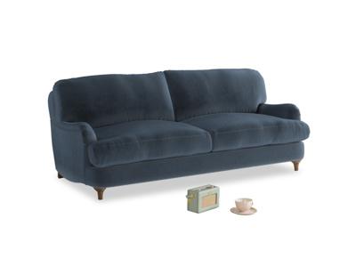 Medium Jonesy Sofa in Liquorice Blue clever velvet