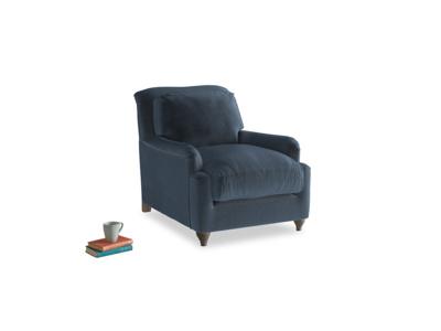 Pavlova Armchair in Liquorice Blue clever velvet