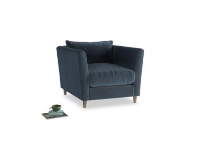 Flopster Armchair in Liquorice Blue Clever Velvet