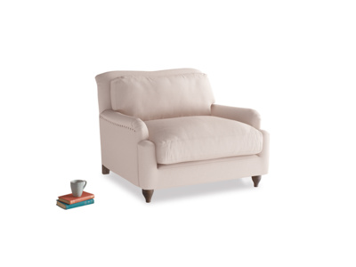 Pavlova Love seat in Faded Pink brushed cotton