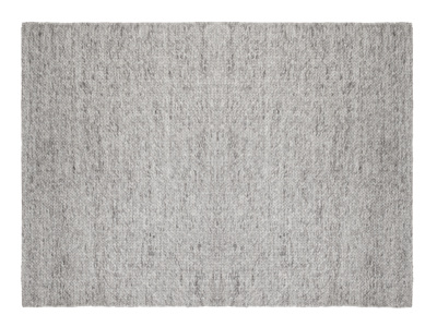 Yarn wool grey woven handmade rug