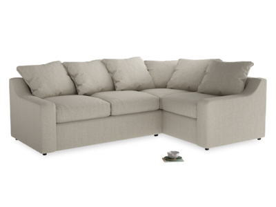 Cloud corner sofa bed, seriously comfy L shaped and British made with big back cushions