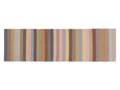 Striped patterned handmade Tuppence hallway rug runner