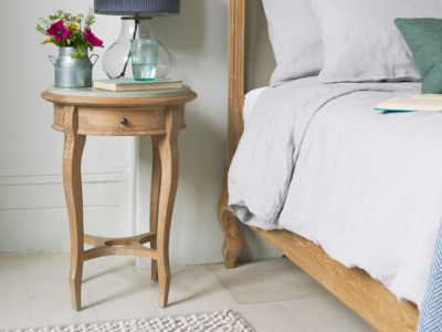 French style Bella elegant bedside table with curved legs