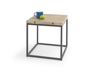 Industrial style Postino side table made from reclaimed wood and metal