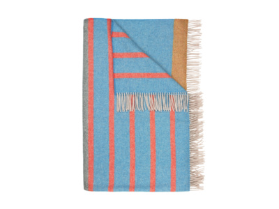 Dasher stripey wool blanket and bed throw