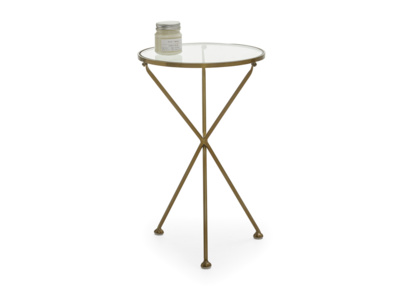 Contemporary Tria modern round side table